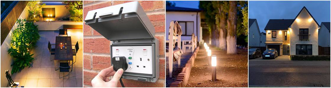 Outdoor Lighting - Electricians, Croydon, Surrey & South London